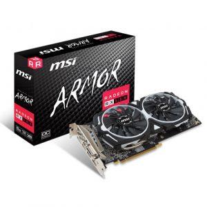 MSI Radeon RX 580 ARMOR 8GB OC 256-Bit GDDR5 Graphics Card