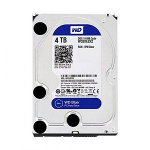 WD Blue 4TB Desktop Hard Disk Drive - 5400 RPM SATA 6Gb/s 64MB Cache 3.5 Inch