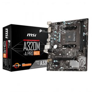 MSI A320M-A Pro Max AM4 AMD Motherboard