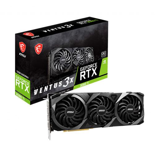 MSI GeForce RTX 3080 Ti Ventus 3X 12GB OC GDDR6X Graphics Card